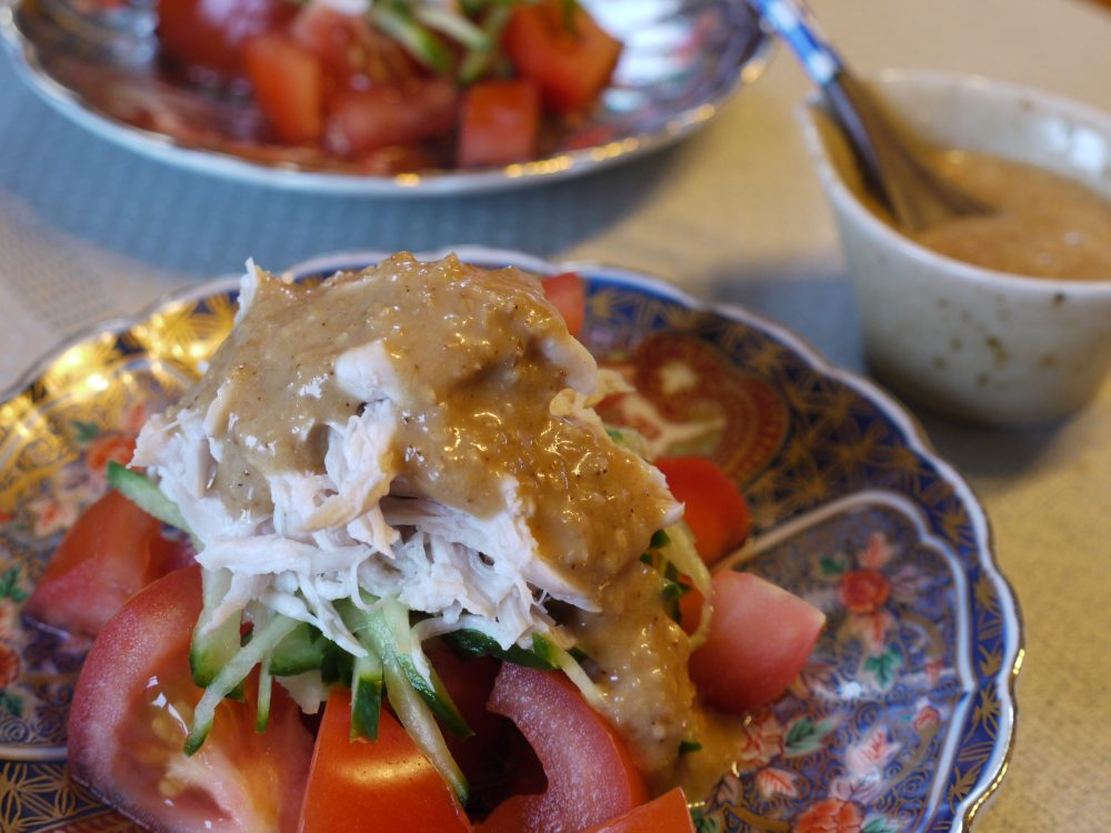 Tender Chicken Breast Salad With Sesame Dressing