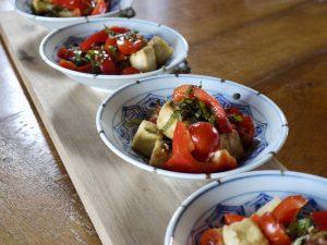 tomato tofu salad